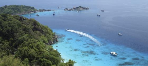 Aerial view of Similan Islands