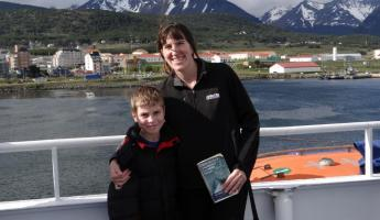 Mom and Son Starting our Antarctic Adventure