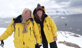 Family Trip to Antarctica- Me and Mom
