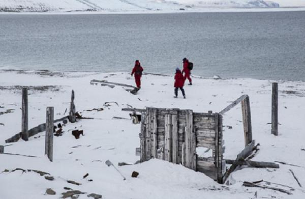 Remains of early Arctic exploration on Baffin Island
