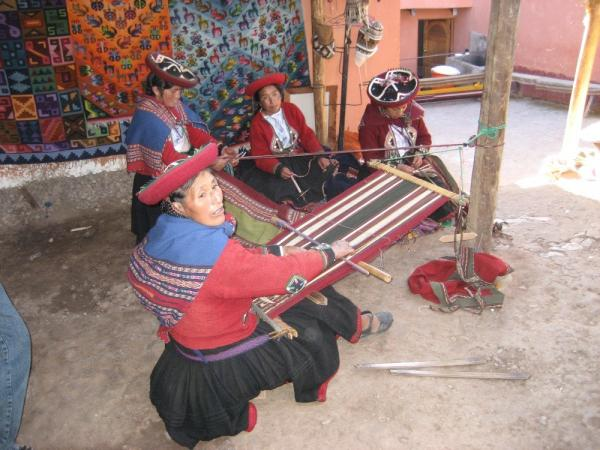 Local women weaving