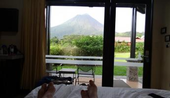 View of Arenal from our room