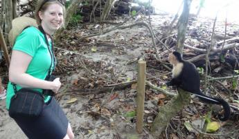 Me with Capuchin