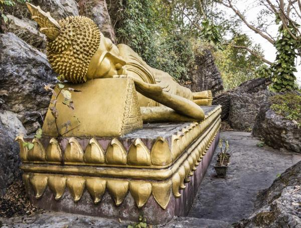 Golden Sleeping Buddha, Mount Phou Si, Luang Prabang