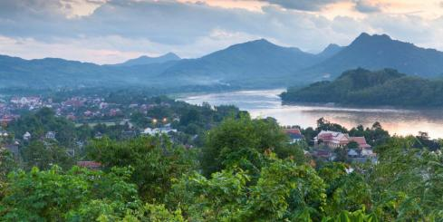 Evening view over Luang Prabang