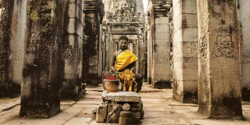Buddha at Bayon Temple, Angkor Thom