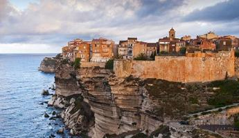 Bonifacio, nestled on top of Corsica's coastal cliffs