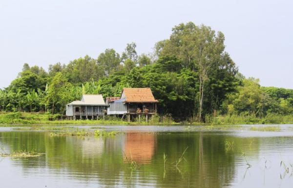 Typical countryside house in Vietnam