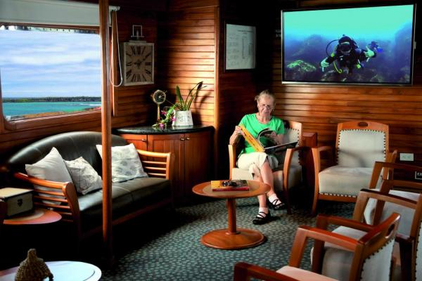 Relax in the Main Lounge aboard the Corals