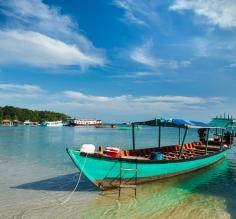 Boats at Sihanoukville beach