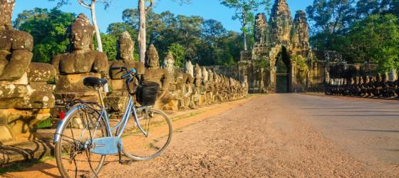 Bike in front of Angkor Wat