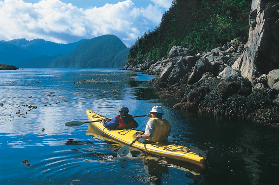 Kayaking the Alaskan waters