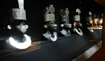 Headpieces at the Museo Larco