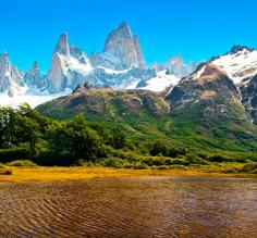 Patagonia landscape with Mt Fitz Roy in Argentina