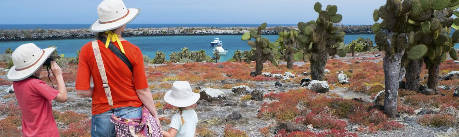 Family in the Galapagos