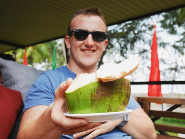 Borneo has great beaches for sipping straight from a coconut