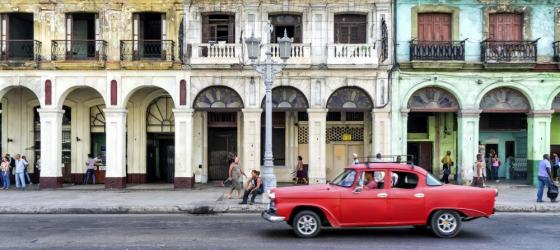 Iconic vintage car on a street in Havana