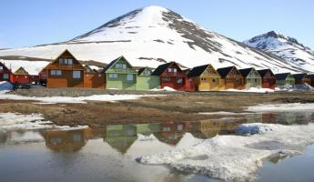 Homes in Longyearbyen, Svalbard, Norway