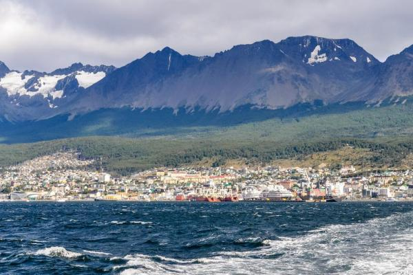 Beautiful port of Ushuaia, Argentina