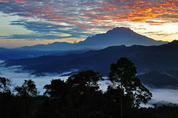 Sunrise over Mount Kinabalu