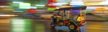 Tuk tuk ride at night