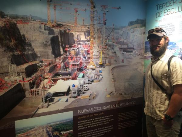 The Panama Canal construction