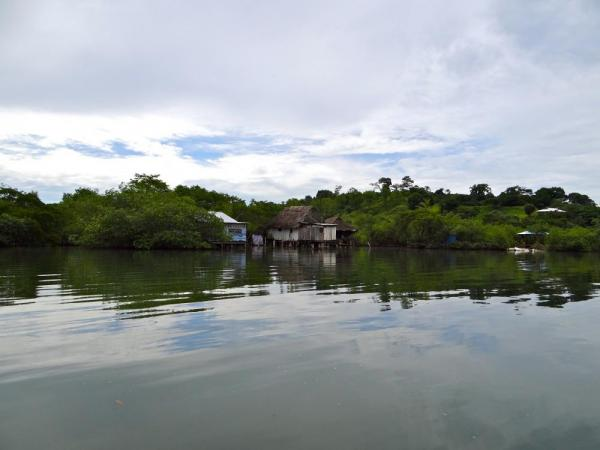 homes on the water around Bocas del Toro