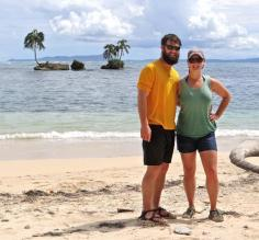 Matt and I enjoying Bastimentos Island National Marine Reserve