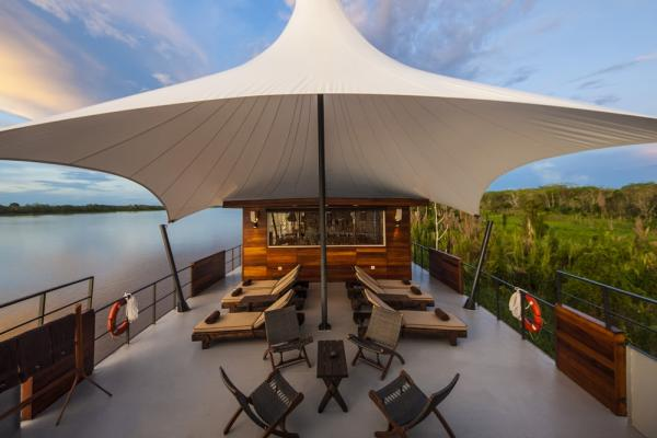 Outdoor lounge on the Aria Amazon