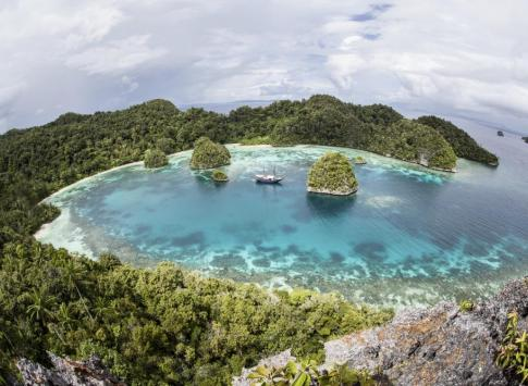 Remote lagoon in Papua New Guinea
