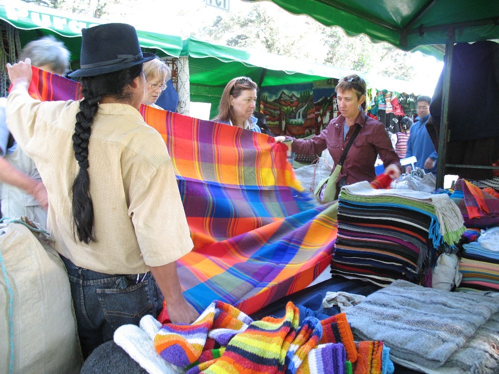 Exploring the weekly Quito market.