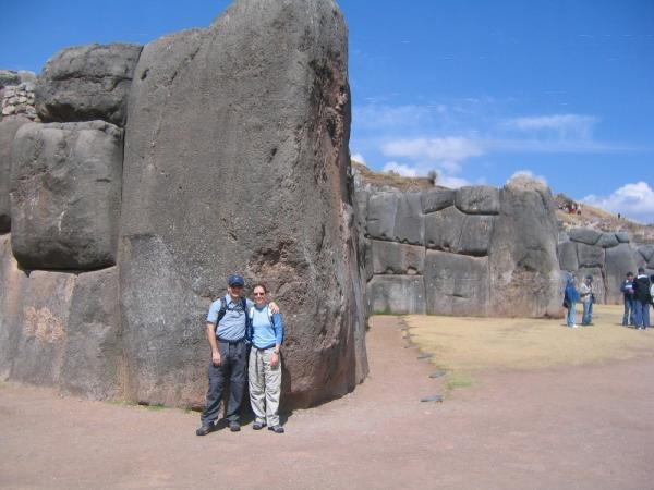 One of the largest stones at the fortress at Sacsayhuaman.