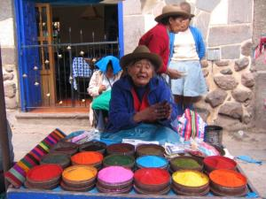 Pisac Market - the place to be if you need colors for dye
