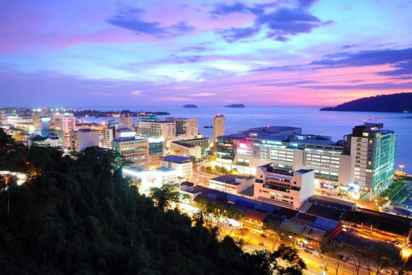 Kota Kinabalu cityscape at night