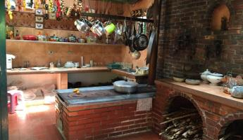 Traditional Colombian coffee farm kitchen