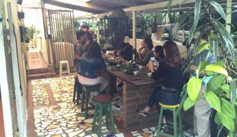 Coffee tasting at Marleni's organic farm