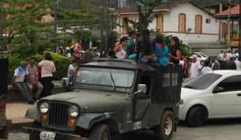 Local taxi in Colombia
