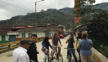 Biking around a Colombia mountain town