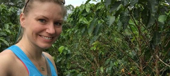Exploring a coffee farm in Colombia