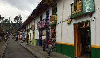 Walking around Salento, Colombia