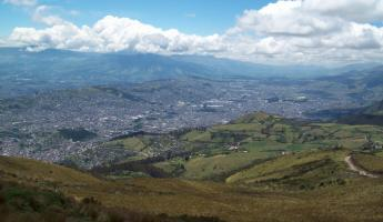 Overlooking the city of Quito, Ecuador