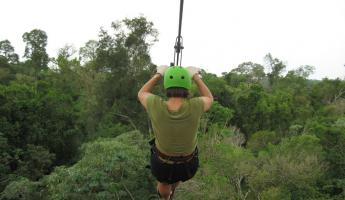 Ziplining over the Argentine rainforest!