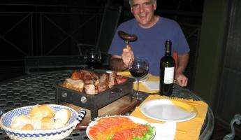 Asado on our deck