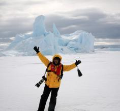 Happy in Antarctica