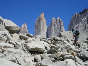 Approaching Mirador las Torres with the towers coming in to view