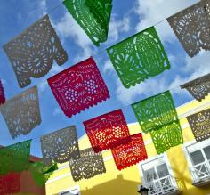 Celebratory flags in Mexico