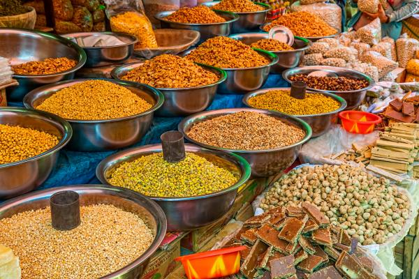 Grains and Spices at the market