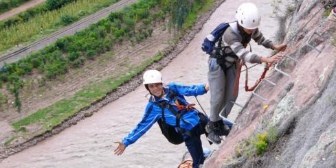 Climbing in the Sacred Valley; Via Ferrata