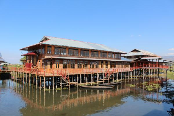 Stilted house on Inle Lake