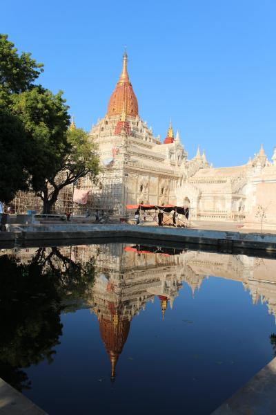 Reflective pool in Bagan
